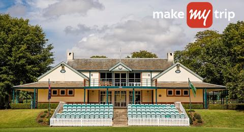 The Bradman Pavilion and seating area at Bradman Oval, Bowral
