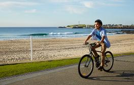 Cycling at Wollongong Beach, Wollongong